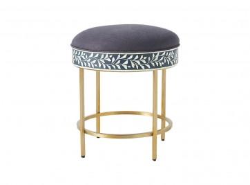 Handmade Bone Inlay Chair/Stool
