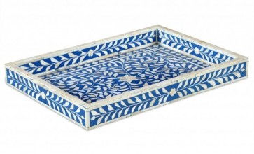 Bone Inlay Wooden Modern  Handmade  Tray Kitchen Serving