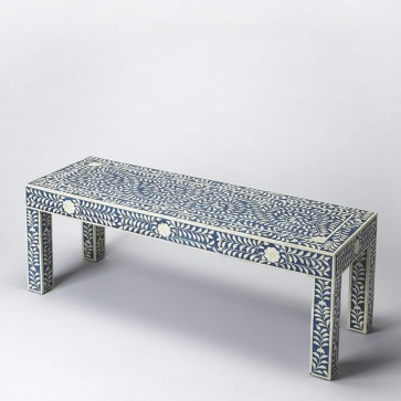 Bone Inlay Bench Handmade Bone Inlay Bench Furniture