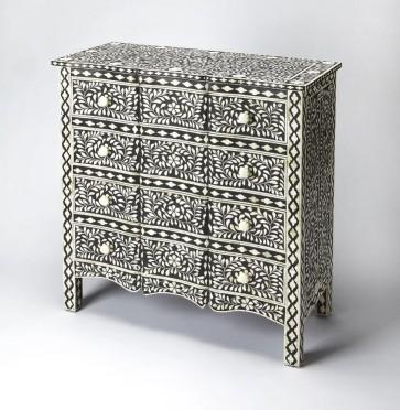 Handmade Bone Inlay Wooden Modern Floral Pattern Sideboard Furniture.
