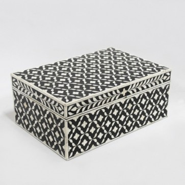 Bone Inlay Wooden Modern Antique Handmade Jewelry box