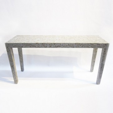 Handmade MOP Inlay Wooden Modern Console Table Furniture