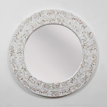 Handmade Mother of pearl Mirror Frame Inlay Furniture