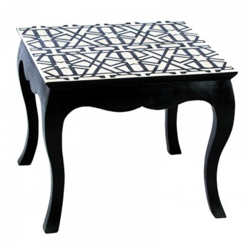Handmade Bone Inlay Wooden Modern Pattern Coffee Table