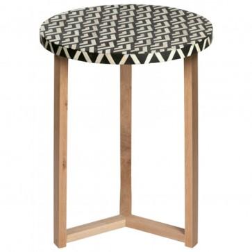 Handmade Bone Inlay Wooden Modern Side Table / Stool / End Table Legs Furniture.
