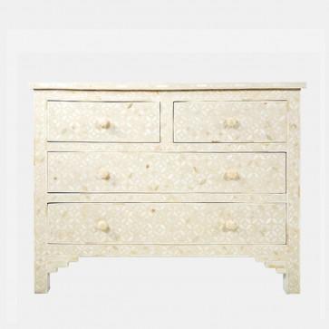 Bone Inlay Chest Of  Drawers Handmade Furniture