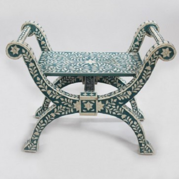 Bone Inlay Roman Chair