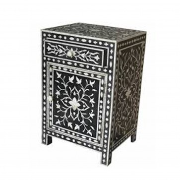 Bone Inlay Bedside Home Decor Modern Design Attractive Look Beautifully Crafted nightstand / end table Handmade Furniture.
