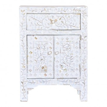 Mother of pearl Inlay Handmade Bedside table Home Decor Furniture Art