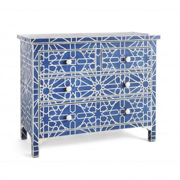 Handmade Bone Inlay Wooden Modern Floral Pattern Sideboard with 3 Drawer Furniture .