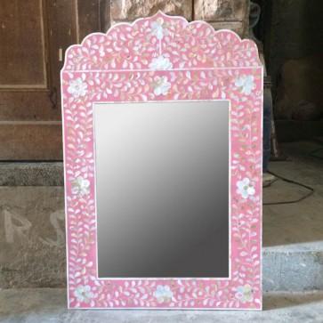 Mother of pearl Mirror Frame Handmade Inlay Furniture Bone Inlay Mirror
