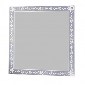 Bone Inlay Mirror Frame Handmade Inlay Furniture Bone Inlay Mirror