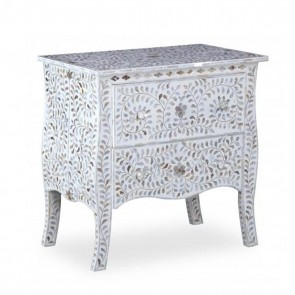 Mother Of Pearl Inlay Chest Of  Drawers Handmade Furniture
