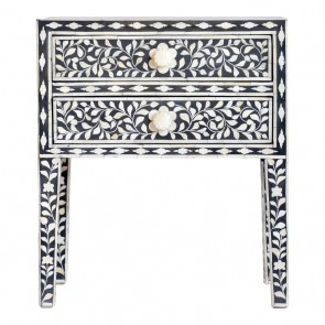 Bone Inlay Handmade Antique Home Decor Furniture Bedside