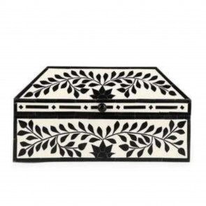 Handmade Bone Inlay Wooden Modern Pattern Jewelry Box Furniture