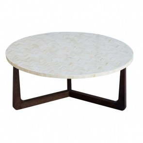 Handmade Bone Inlay Wooden Modern Pattern Coffee Table Furniture