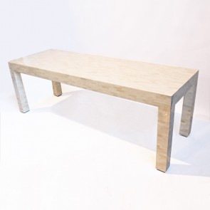 Handmade Bone Inlay Wooden Modern Pattern Console Table Furniture .