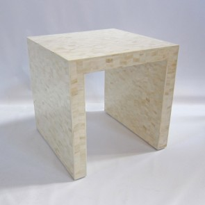 Handmade Bone Inlay Wooden Modern Pattern End Table Furniture.