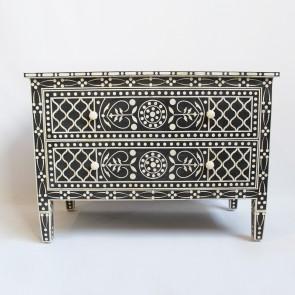 Handmade Bone Inlay Wooden Modern Floral Pattern Sideboard Furniture