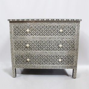 Handmade Bone Inlay Wooden Modern Geometric Pattern Sideboard Furniture