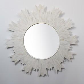 Handmade Bone Inlay Wooden Modern Pattern Mirror Frame Furniture