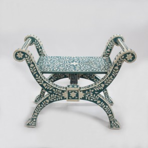 Bone Inlay Roman Chair
