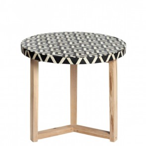 Handmade Bone Inlay Wooden Modern Side Table / Stool / End Table Legs Furniture.