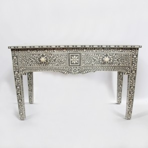 Handmade Bone Inlay Wooden Modern Pattern Console Table Furniture