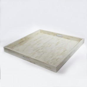 Handmade Bone Inlay Wooden Modern Pattern Tray Furniture.