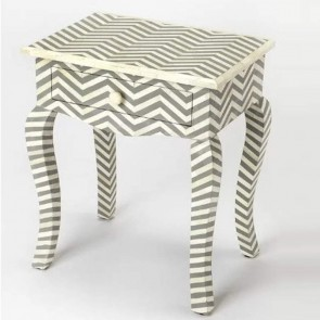 Bone Inlay Wooden Modern Antique Handmade End table Furniture