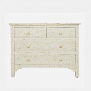 Bone Inlay Chest Of  Drawers Handmade Furniture