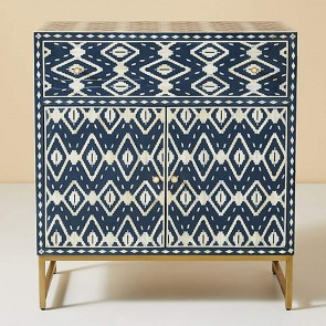 Handmade Bone Inlay Wooden Modern Pattern Sideboard Furniture