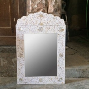 Mother of pearl Mirror Frame Handmade Inlay Furniture Bone Inlay Mirror