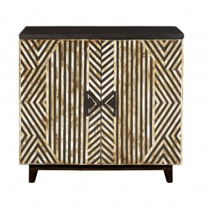 Handmade Bone Inlay Wooden Modern Pattern Sideboard with 2 Door Furniture .