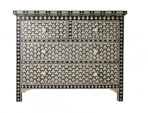 Bone Inlay Handmade Sideboard Home Decor Furniture Art