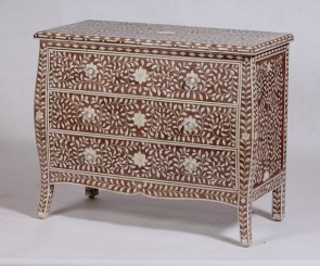 Bone Inlay Handmade Sideboard Home Decor Furniture Art