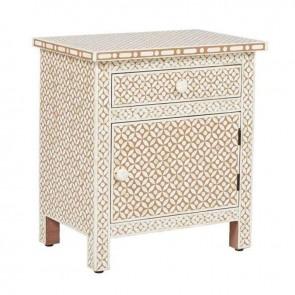Bone Inlay Wooden Modern Antique Handmade Bed side Furniture