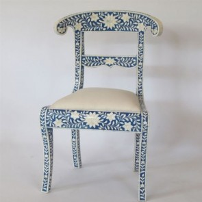 Bone Inlay Wooden Modern Antique Handmade Chair