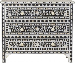 Handmade Mother Of pearl Inlay Wooden Modern Floral Pattern Sideboard Furniture .
