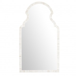 Handmade Bone Inlay Wooden Modern Pattern Mirror Frame Furniture.