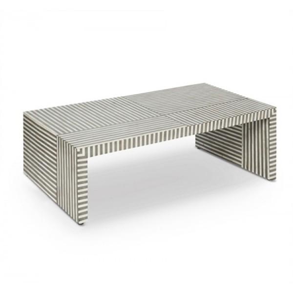Handmade Bone Inlay Console Table