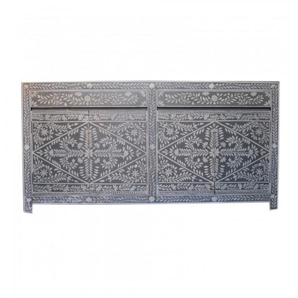 Handmade Bone Inlay Wooden Modern Floral Pattern Sideboard Furniture .