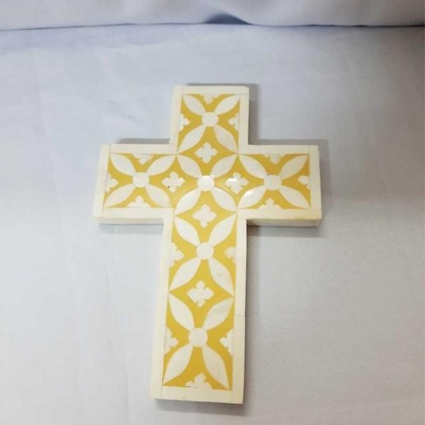 Handmade Bone Inlay Cross.