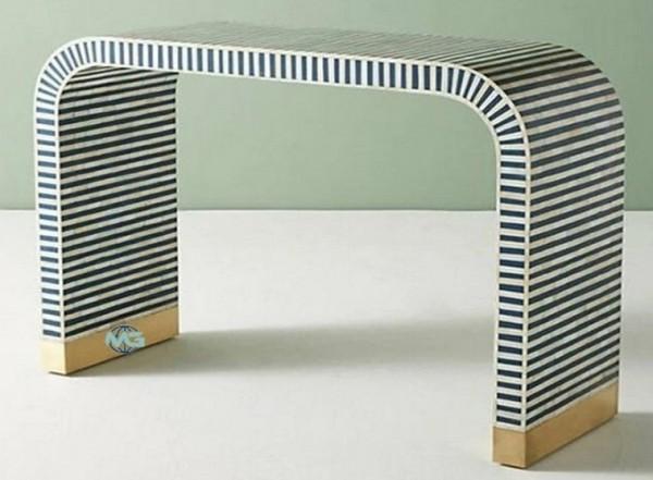 Bone inlay Waterfall Console table