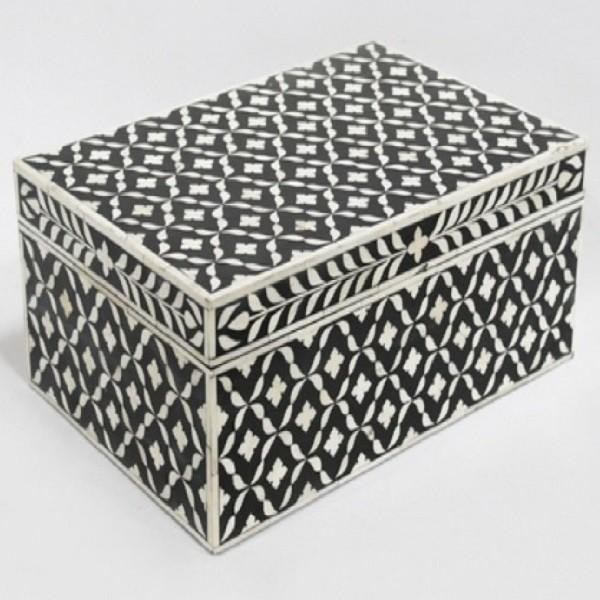 Bone Inlay Wooden Modern Antique Handmade Jewelry box