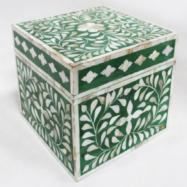 Handmade MOP Inlay Wooden Modern Floral Pattern Jewelry Box Furniture