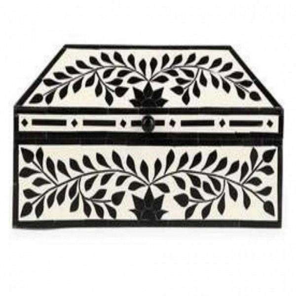 Handmade Bone Inlay Wooden Modern Pattern Jewelry Box Furniture