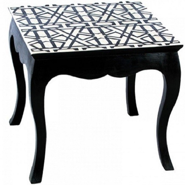Handmade Bone Inlay Wooden Modern Pattern Coffee Table