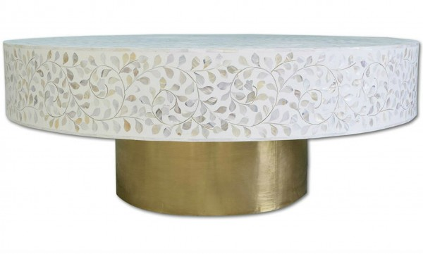 Handmade Mother Of Pearl Coffee Table