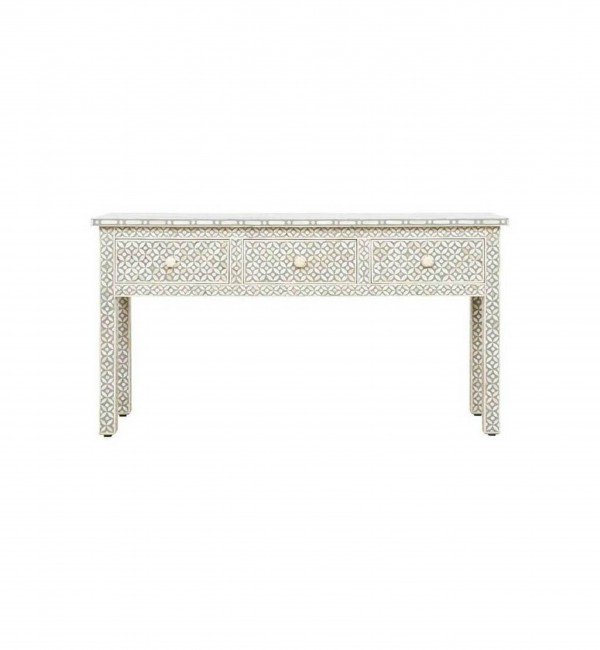 Handmade Bone Inlay Console Table Furniture